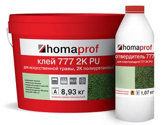 Homaprof 777 2K PU. Клей для искусственной травы.