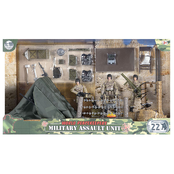 Миротворцы мира Игровой набор Лагерь и 2 фигурки военных