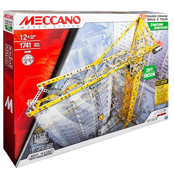 Meccano 91762 Конструктор Меккано Набор Строительный Кран, с 3 маторчиками