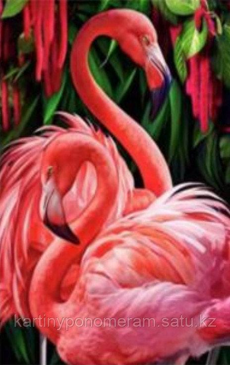 "Картина по номерам ""Розовые фламинго"""