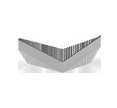 Полка угловая  для подконструкцию  вентилируемого фасада с нержавеющий стали