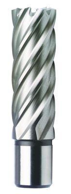 Кольцевая фреза (полое корончатое сверло) из HSS, длиной 55 мм и Ø 21 мм.