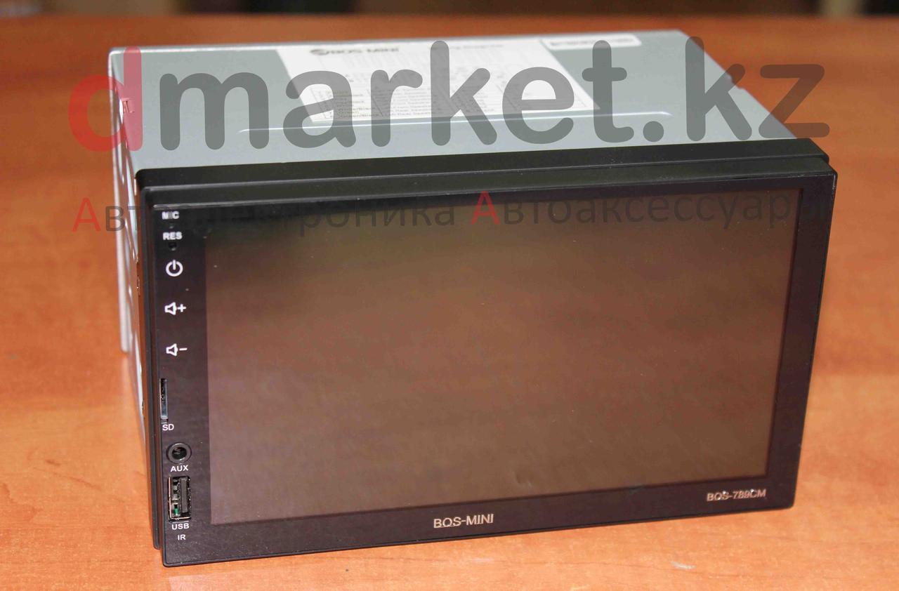 Автомагнитола Bos-Mini 789CM, 2DIN, USB, AUX, MP3, Bluetooth, камера в подарок