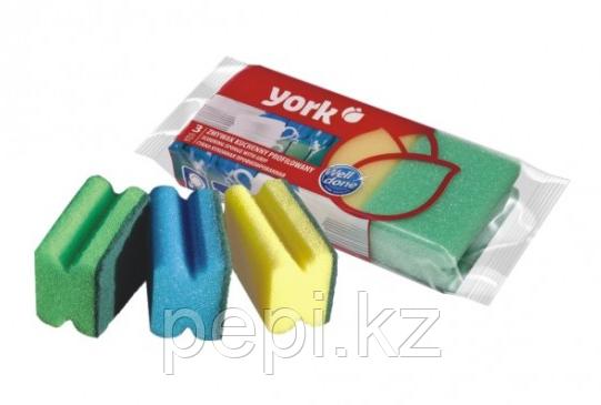 """Губка для мытья посуды York """"Maxi"""", 3 штуки"""