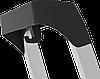 Стремянка алюминиевая 130 мм широкая ступень  с лотком органайзером, 3 ступени, фото 3