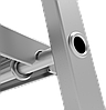 Стремянка алюминиевая, широкая ступень 130 мм, 8 ступеней, фото 3