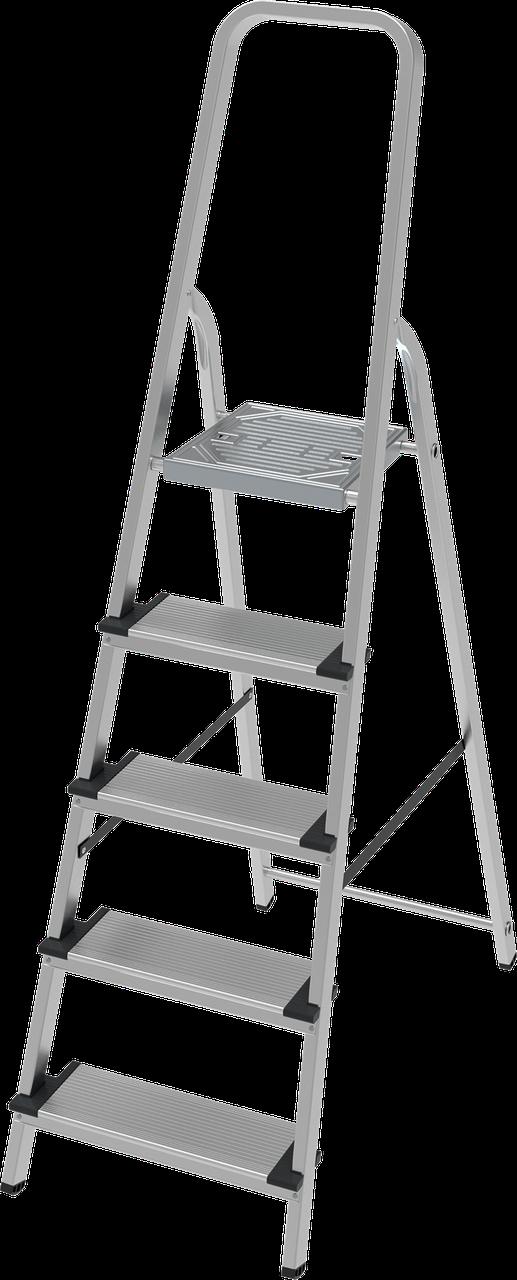 Стремянка алюминиевая, широкая ступень 130 мм, 9 ступеней