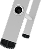 Стремянка алюминиевая, широкая ступень 130 мм с лотком органайзером, 6 ступеней, фото 4