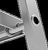 Стремянка алюминиевая, широкая ступень 130 мм с лотком органайзером, 7 ступеней, фото 5