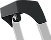 Стремянка алюминиевая, широкая ступень 130 мм с лотком органайзером, 8 ступеней, фото 3