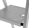 Стремянка алюминиевая, широкая ступень 130 мм с лотком органайзером, 9 ступеней, фото 6