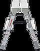 Стремянка двухсторонняя, комбинированная стальная NV 100, 2 ступени, фото 3
