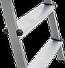 Стремянка двухсторонняя, комбинированная стальная NV 100, 2 ступени, фото 4