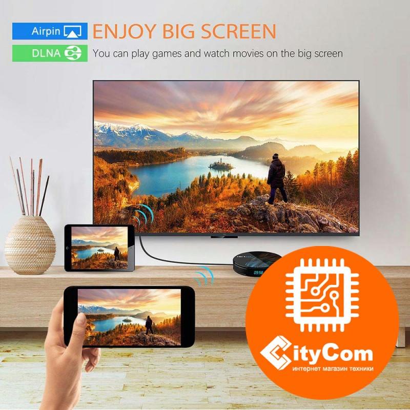 Приставка Android TV box к телевизору, ОС Андроид ТВ Mini PC HK1 Max Арт.6320