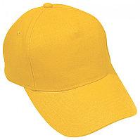 Бейсболка HIT, 5 клиньев,  застежка на липучке, Желтый, -, 8302 34