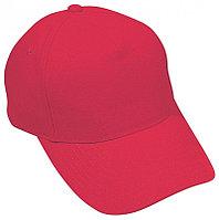 Бейсболка HIT, 5 клиньев,  застежка на липучке, Красный, -, 8302 40