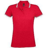 Поло женское PASADENA WOMEN 200, Красный, S, 700578.908 S
