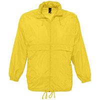 Ветровка водоотталкивающая унисекс SURF, Желтый (Pantone 106C), 2XL, 732000.301 2XL