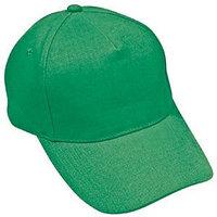 Бейсболка LIGHT, 5 клиньев,  застежка на липучке, Зеленый, -, 8301 47