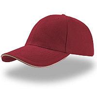 Бейсболка LIBERTY SANDWICH, 6 клиньев, сэндвич, металлическая застежка, Бордовый, -, 25435.81