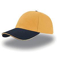 Бейсболка LIBERTY SANDWICH, 6 клиньев, сэндвич, металлическая застежка, Желтый, -, 25435.325