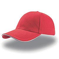 Бейсболка LIBERTY SANDWICH, 6 клиньев, сэндвич, металлическая застежка, Красный, -, 25435.801