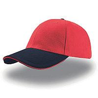Бейсболка LIBERTY SANDWICH, 6 клиньев, сэндвич, металлическая застежка, Красный, -, 25435.825