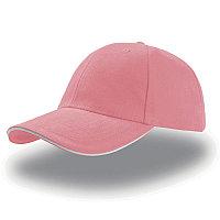Бейсболка LIBERTY SANDWICH, 6 клиньев, сэндвич, металлическая  застежка, Розовый, -, 25435.10