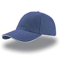 Бейсболка LIBERTY SANDWICH, 6 клиньев, сэндвич, металлическая застежка, Синий, -, 25435.221