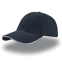 Бейсболка LIBERTY SANDWICH, 6 клиньев, сэндвич, металлическая застежка, Темно-синий, -, 25435.251