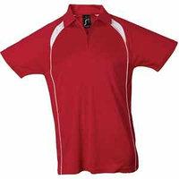 Поло мужское PALLADIUM 140, Красный, 2XL, 711418.145 2XL, фото 1
