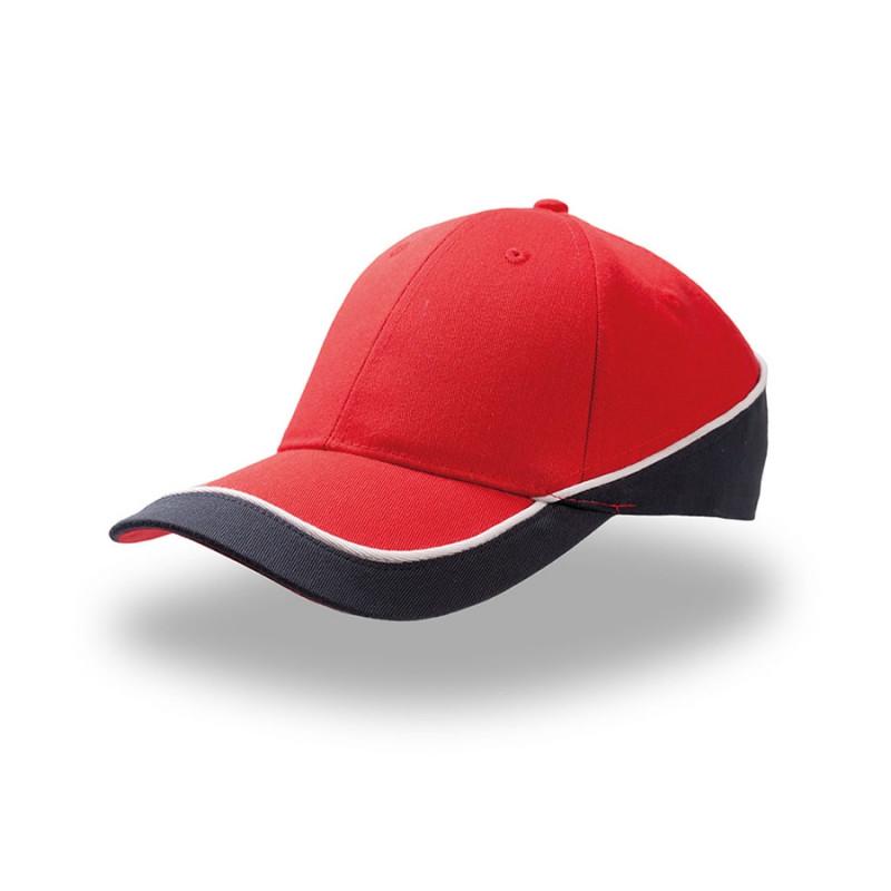 Бейсболка RACING, 6 клиньев, застежка на липучке     , Красный, -, 25481.08
