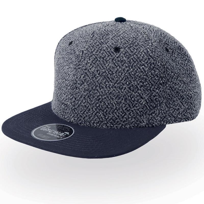 Бейсболка KIK, 6 клиньев, пластиковая застежка, Темно-синий, -, 25477.26