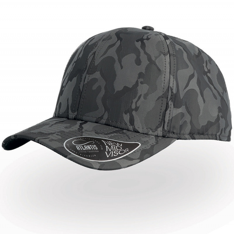 Бейсболка PHASE, 6 клиньев, пластиковая застежка, Серый, -, 25457.300