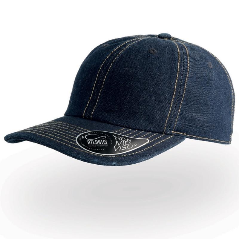 Бейсболка DAD HAT, 6 клиньев, металлическая застежка, Темно-синий, -, 25462.25