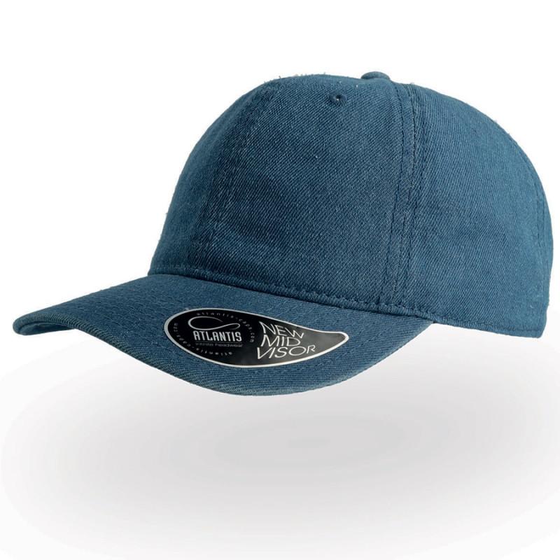 Бейсболка DAD HAT, 6 клиньев, металлическая застежка, Синий, -, 25462.23