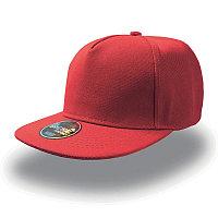 Бейсболка SNAP FIVE, 5 клиньев, пластиковая застежка, Красный, -, 25426.08