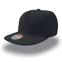 Бейсболка SNAP FIVE, 5 клиньев, пластиковая застежка, Черный, -, 25426.35