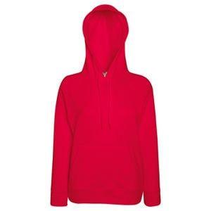 Толстовка женская без начеса LIGHTWEIGH HOODED SWEAT 240, Красный, XS, 621480.40 XS