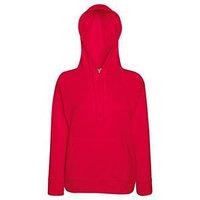 Толстовка женская без начеса LIGHTWEIGH HOODED SWEAT 240, Красный, S, 621480.40 S