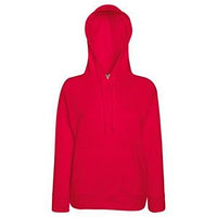 Толстовка женская без начеса LIGHTWEIGH HOODED SWEAT 240, Красный, XL, 621480.40 XL