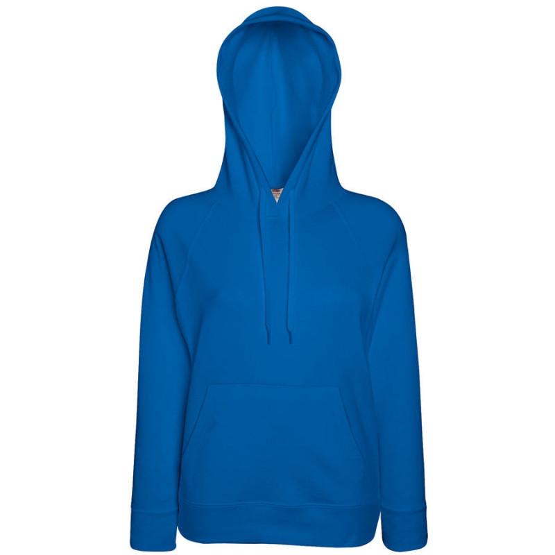 Толстовка женская без начеса LIGHTWEIGH HOODED SWEAT 240, Синий, L, 621480.51 L
