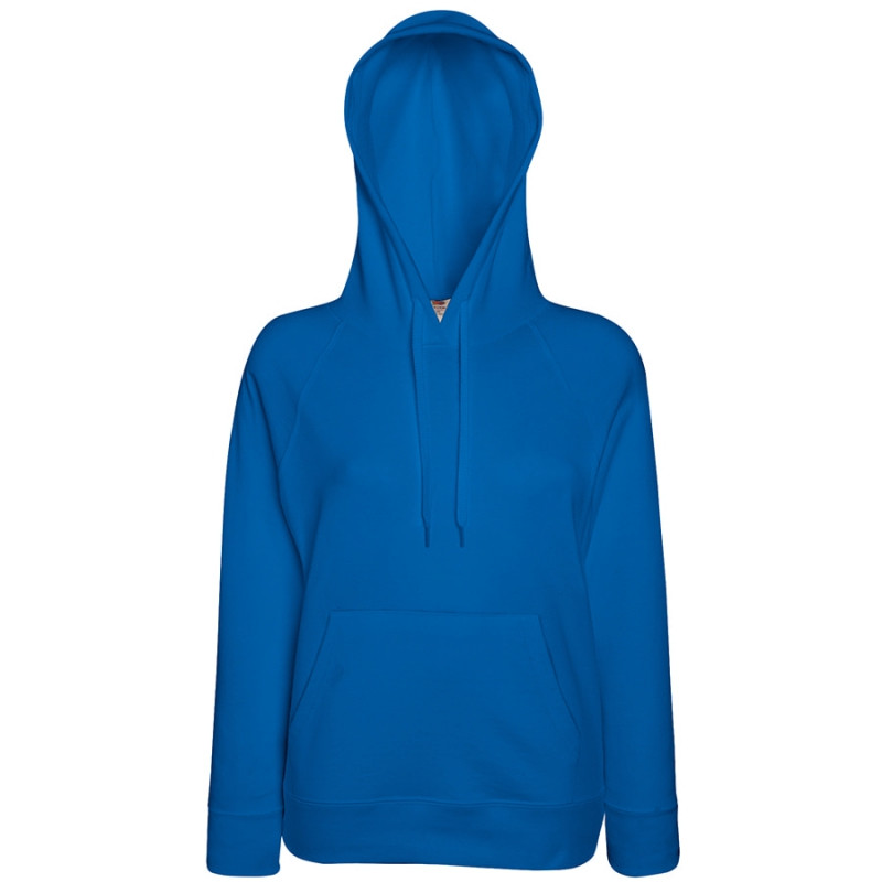 Толстовка женская без начеса LIGHTWEIGH HOODED SWEAT 240, Синий, XS, 621480.51 XS
