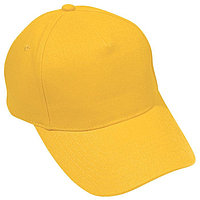 Бейсболка OPTIMA S, 5 клиньев, металлическая застежка, Желтый, -, 19402 301