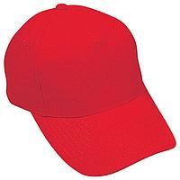 Бейсболка OPTIMA S, 5 клиньев, металлическая застежка, Красный, -, 19402 145