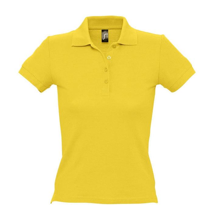Поло женское PEOPLE 210, Желтый, S, 711310.301 S