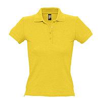 Поло женское PEOPLE 210, Желтый, XL, 711310.301 XL, фото 1