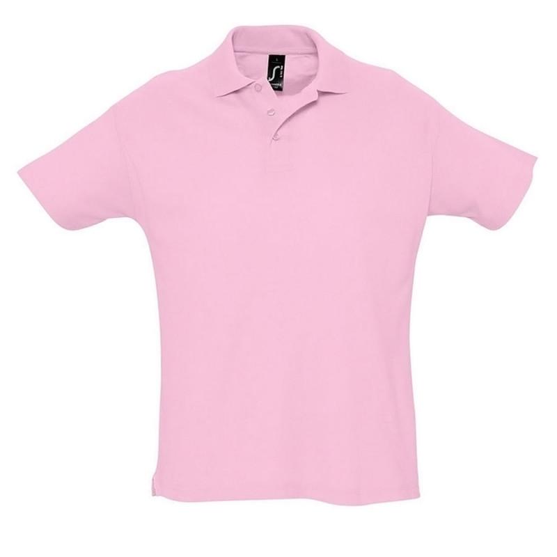 Поло мужское SUMMER 170, Розовый, XL, 711342.147 XL