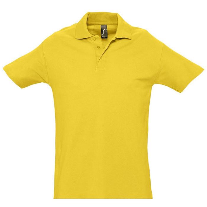 Поло мужское SPRING 210, Желтый (Pantone 106C), 2XL, 711362.301 2XL