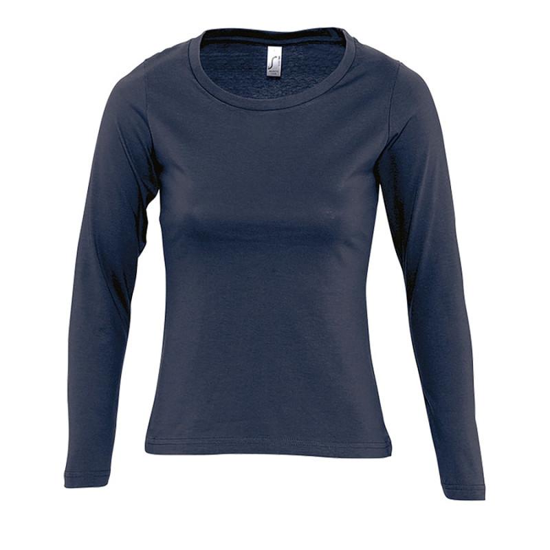 Футболка женская MAJESTIC 150, Темно-синий, L, 711425.318 L